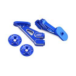 JConcepts - RC10B5M, aluminum wing mounts - blue