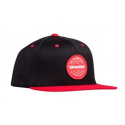 Snap Hat Black/Red Traxxas Circle Patch