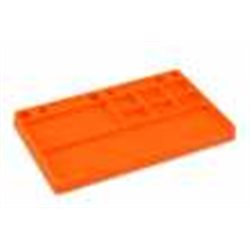 JConcepts parts tray, rubber material - orange