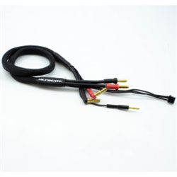 2S CHARGE CABLE LEAD w/4mm & 5mm BULLET CONNECTOR (60cm)