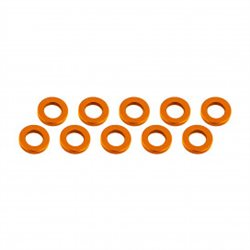 ALUMINUM SHIM  (3x6x1mm)   ORANGE (10pcs)