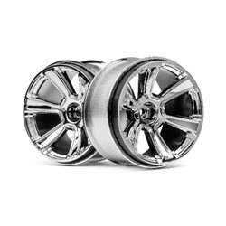 6-SHOT MT WHEEL (CHROME/2PCS)