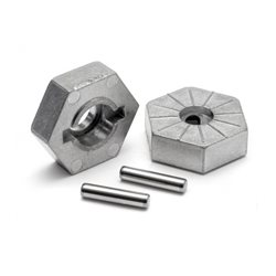 HEX WHEEL HUB 17MM (SILVER) SAVAGE X