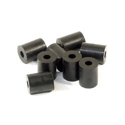 RUBBER TUBE 3X8X10MM (BLACK/8PCS)(BUMP STOP)