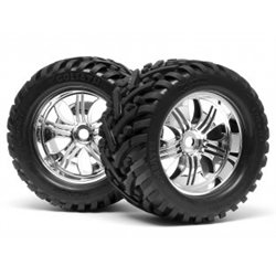 MOUNTED GOLIATH TIRE 178X97MM ON TREMOR WHEEL CHROME