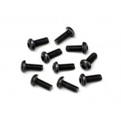 BUTTON HEAD SCREW M2.5X6MM (HEX SOCKET/10PCS)
