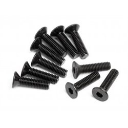 FLAT HEAD SCREW M3X12MM HEX SOCKET/10PCS/2.0MM