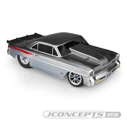 1966 Chevy II Nova - 1-piece body (Fits - Traxxas Slash for drag racing)