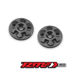 JConcepts - RM2 clover large flange 1/8th wing buttons - black - 2pc.