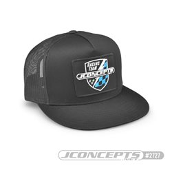 JConcepts Finish Line hat, embroidered, flat bill, mesh, snap-back design