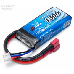 Li-Po Battery 2S 7.4V 1300mAh 30C T-Connector