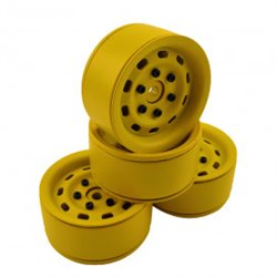 "1.9"" Aluminium beadlock crawler wheels M95 Yellow (4pcs)"