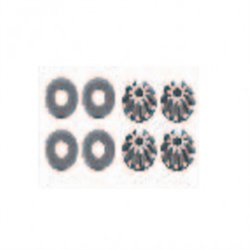 Differential asteroids tooth 10T (4pcs) 12423-12427-12429