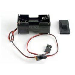 Battery Holder with On/Off Switch (Rubber Cover)