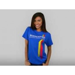 JConcepts - Red | Yellow racing stripes t-shirt - blue, small
