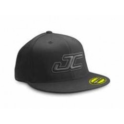 Jconcepts - Flat bill JC Flexfit hat (S,M) - black w/gray JC