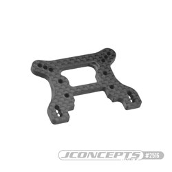 B74 Carbon Fiber front shock tower, ribbed and chamfered