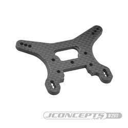 B74 Carbon Fiber rear shock tower, ribbed and chamfered