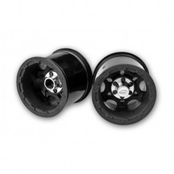 Tense - Rustler / Stampede (Electric) rear wheel - (black w/ cap) - 2pc.