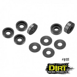 Dirt Racing Products - recessed ball-stud washer - set (black)