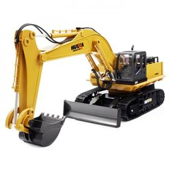 HUINA 1510 1/16 SCALE RC EXCAVATOR 2.4G 11CH w/DIE CAST BUCKET