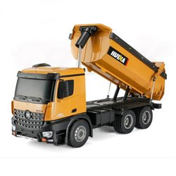 HUINA 1573 RC TIPPER/DUMP TRUCK 2.4G 10CH WITH DIE CAST CAB, BUCKETS and WHEELS