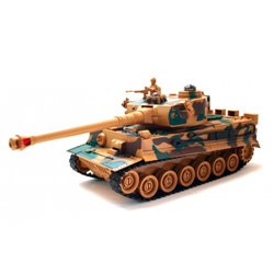 1/28 Brown Camouflage Tank with 4,8v NiCd Battery