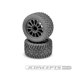 G-Locs - yellow compound - black wheel - (pre-mounted) - Stampede 4x4 F&R and E-Stampede and E-Rustler 2wd front