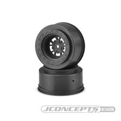 "Tactic - Slash | Bandit, Street Eliminator 2.2 x 3.0"" 12mm hex rear wheel - (black)"