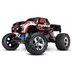 Stampede 2WD 1/10 RTR TQ Red-X with Batt/Charger