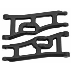 Suspension Arms Front Extended Black Rustler, Stampede - 2WD