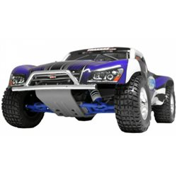 Bumper and Skidplate Front Chrome Slash 2WD, Nitro Slash