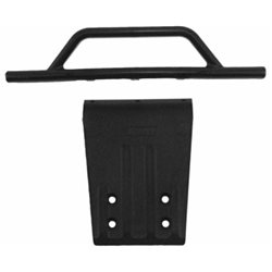 Bumper and Skidplate Front Black Slash 2WD, Nitro Slash