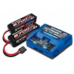 Charger EX-Peak Live Dual 26A and 2x4S 6700mAh Battery Combo