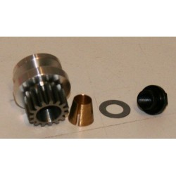Flywheel and steelgear, cone, nut 15T for MM300