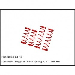 SPRING FOR BIG BORE SHOCKS 1,4mm RED