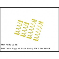 SPRING FOR BIG BORE SHOCKS 1,4mm YELLOW