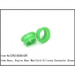 Engine rear manifold silicon connector Green