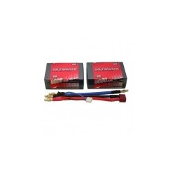 ULTIMATE 7,4v. 6000 mAh 60C 2S2P LIPO BATTERY SADDLE PACK