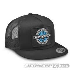 Jconcepts - Skull hat - embroided, flat bill, mesh, snap-back design